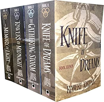 Robert Jordan The Wheel of Time Collection 4 Books Set Series 3  Book 11-14   Knife Of Dreams The Gathering Storm Towers Of Midnight A Memory Of Light