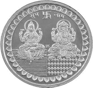 Msa Jewels Round Shape 10 g Laxmi and Ganesh with BIS Hallmark Silver 999 Coin