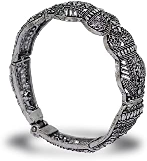 Preyans from Jaipur Mart Oxidised Kadaa for Women (Silver)(GSB13SLV)