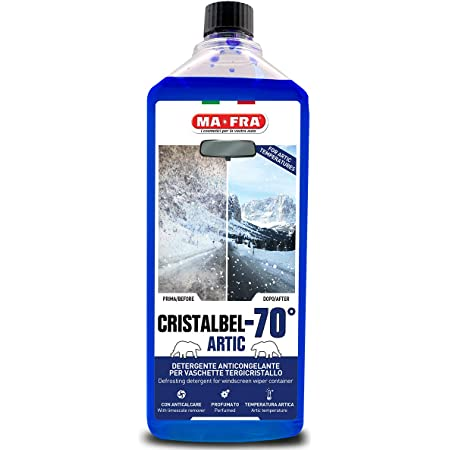 Ma-Fra Mafra 8005553012434 Cristalbel Artic-70°C Liquido, Detergente Anticongelante per Vaschette Tergicristallo, Azione Sgrassante Anticalcare, Resiste alle Basse Temperature Senza Congelare