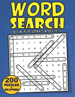 Word Search Book For Smart Kids 9-12: 200 Fun And Challenging Large Print Kids Word Search Puzzles Book Ages 9, 10, 11, 12...