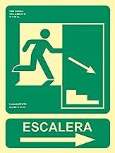 MovilCom/® Se/ñal luminiscente SALIDA DE EMERG ESPA/ÑOL//INGLES PVC 0,7mm Clase B 224X300mm homologado nueva legislaci/ón ref.RD14102
