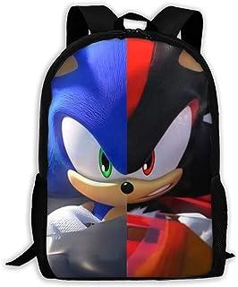 Sleyrrison Sonic The Hedgehog Youth Backpack Shoulder Bag Travel Bags Laptop Bag School Bag for Boys Girls