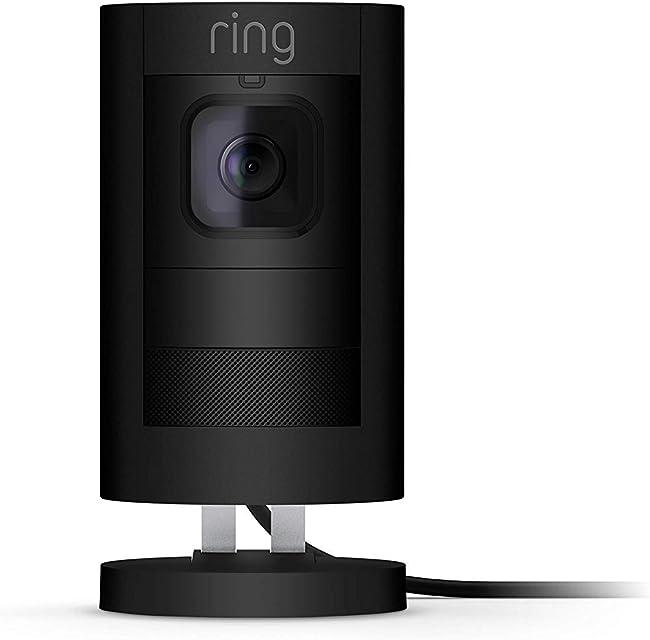 Ring Stick Up Cam Elite - Cámara de seguridad HD comunicación bidireccional compatible con Alexa color negro