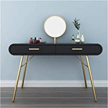 Makeup Desk with Drawers for Bedroom Makeup Table Writing Desk with Mirror, Dressing Table Computer Laptop Desk with 2 Lar...