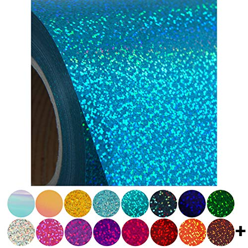 """Threadart Holographic Crystal Silver 20"""" Heat Transfer Vinyl Film   By the Yard   Use with Silhouette, etc   Available in 20 Colors"""