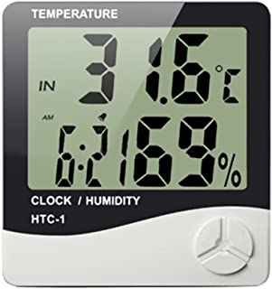 Sekway Indoor Digital Humidity Meter Hygrometer Thermometer with Large LCD Display Temperature Alarm Clock (HTC-1)