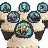 12 x Vorgeschnittene und Essbare Transformers Kuchen Topper (Tortenaufleger, Bedruckte Oblaten, Oblatenaufleger) -