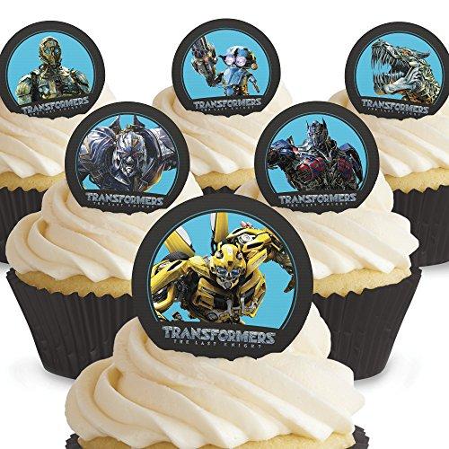 12 x Vorgeschnittene und Essbare Transformers Kuchen Topper (Tortenaufleger, Bedruckte Oblaten, Oblatenaufleger)