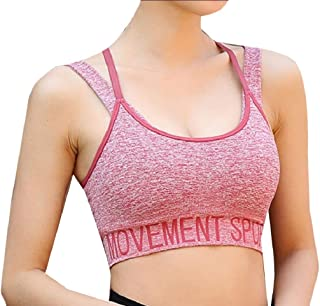 Howme-Women Running Double-Layer Yoga Gym Activewear Sports Bra Top