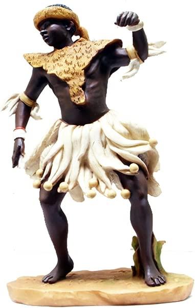 SAA Castagna Zulu Dancer Alabaster Resin Figurine