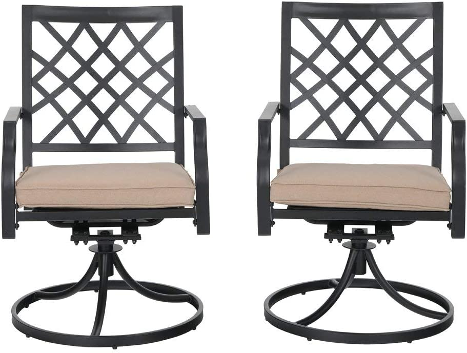 MFSTUDIO Patio Dallas Free shipping on posting reviews Mall Swivel Chair Outdoor Chairs Fu Dining Metal