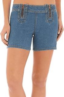Wrangler Women's Double Zipper Mid Rise Denim Shorts