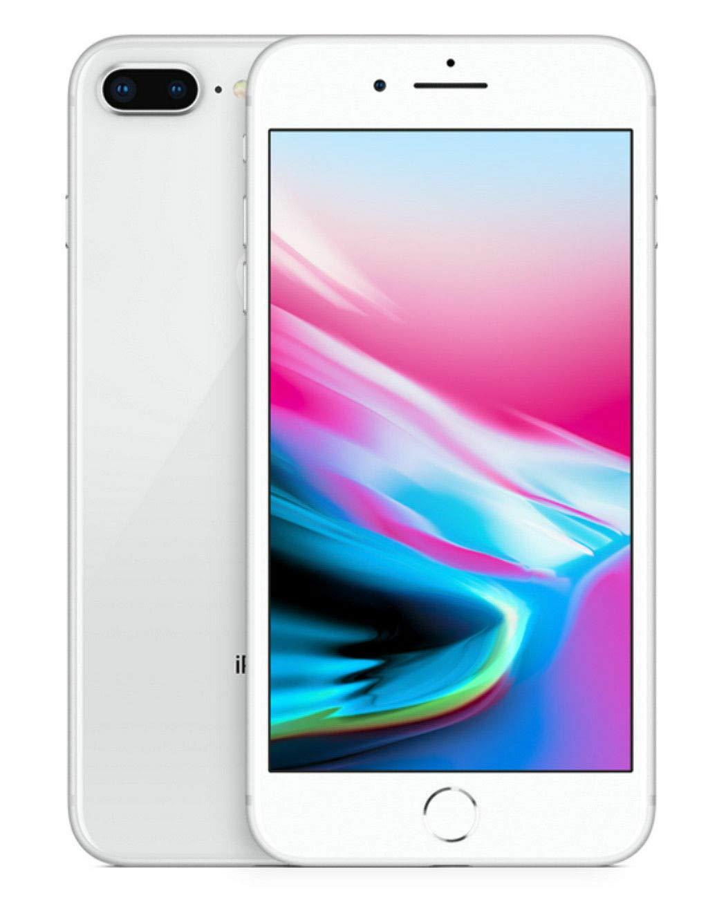 Apple iPhone 8 Plus, GSM Unlocked, 256GB - Silver (Renewed)