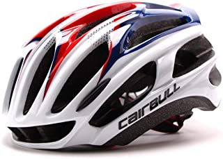 Road mountain bike cycling helmet Ultralight integrated bike helmet with a large forward air outlet-Red And Blue