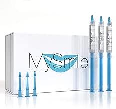 MySmile Teeth Whitening Gel Refill Pack, (3) 3ml 18% Carbamide Peroxide
