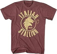 Rocky T-Shirt Distressed Italian Stallion Maroon Heather Tee