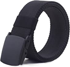 48'' Breathable Belt for Men Military Plastic Buckle Nylon Canvas Adjustable..