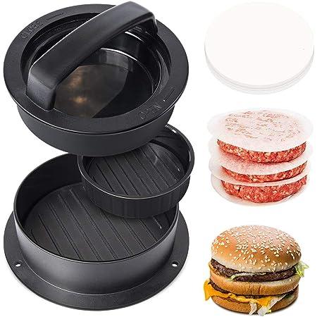 Burger Press e 100 carta oleata antiaderente per carne Patty Hamburger Maker per preparare hamburger tascabili ripieni da un quarto di libbra o grandi 1//3 di libbra