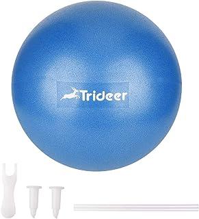 Trideer バランスボール ミニボール(ポンプ付き)2色 25㎝ ヨガボール ピラティスボール 耐荷重120㎏ 厚い アンチバースト 滑り止め ダイエット フィットネス ストレス解消 マッサージ 妊娠ボール ヨガ 椅子 腰痛防止 関節保護