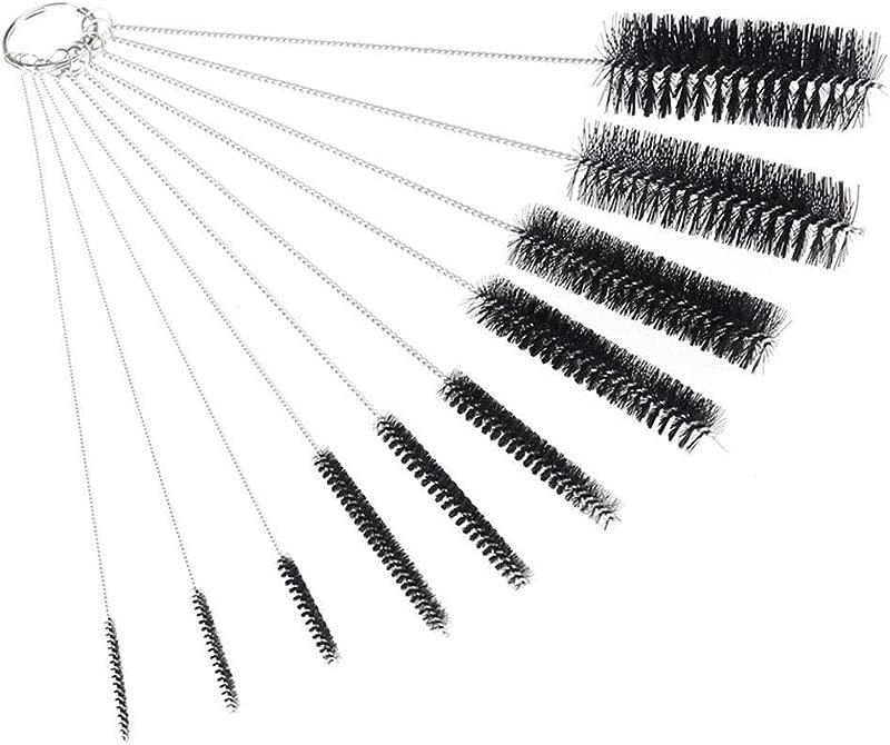 Nylon Straw Brush Cleaner Bottle Tube Pipe 10Pcs Set