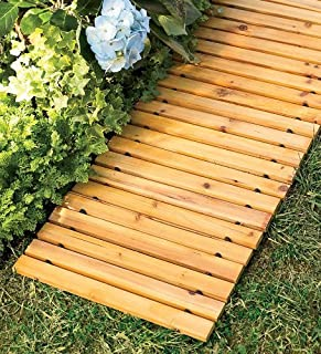 outdoor wooden pathway