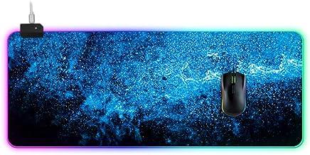 Estrella Keymat Patrón, La Interfaz 14 Tipos De Emisores -USB Engrosamiento Symphony - Juegos Varios Estera Impermeable Mesa De Deslizamiento, 27.5 ~ 35.4 Pulgadas / Negro + Azul ( Size : 30X90X4cm )