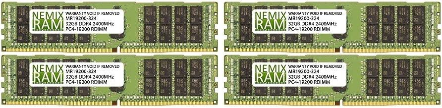 128GB (4x32GB) DDR4-2400MHz PC4-19200 ECC RDIMM 2Rx4 1.2V Registered Memory for Server/Workstation