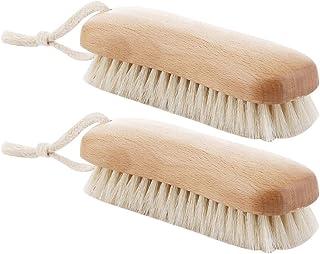 TOPBATHY 2pcs Clothes Shoes Brush Washing Scrubbing Brush Spotting Brush Soft Nylon Bristles Laundry Cleaning Brush with W...