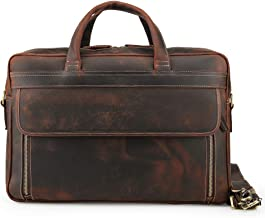 personalized leather briefcase