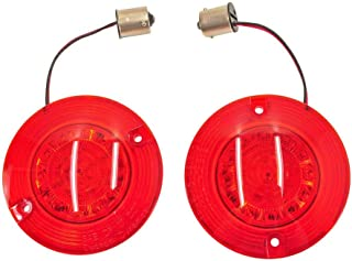Custom Dynamics ProBEAM Dynamic RINGZ Rear Flat RED LED Turn Signals with Red Lenses for 1156 Bulbs on Harley Models