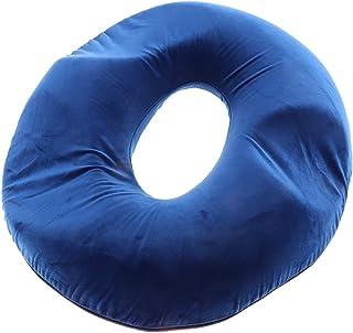Fenteer Forma De Donut Hemorroides Almohada Asiento Cojín Ortopédico Anillo Almohada Asiento Anillo Con Espuma De Memoria Para El Hogar, Automóvil Y Oficina - Azul oscuro, tal como se describe