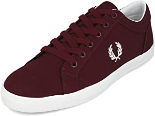 Fred Perry Baseline Canvas Ox Blood B3114597, Men's Trainers