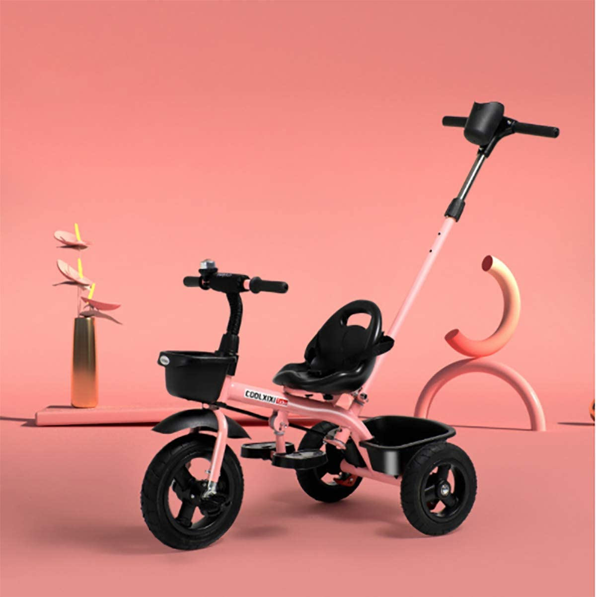 NUBAO Stroller Wagon 2-in-1 Push Along Parent Handle Large discharge sale with Trike OFFer