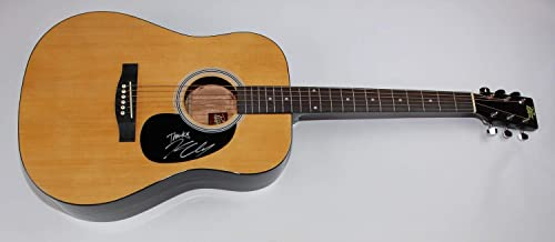 Kenny Chesney Live in No Shoes Nation Signed Autographed Natural Wood Full Size Acoustic Guitar Loa