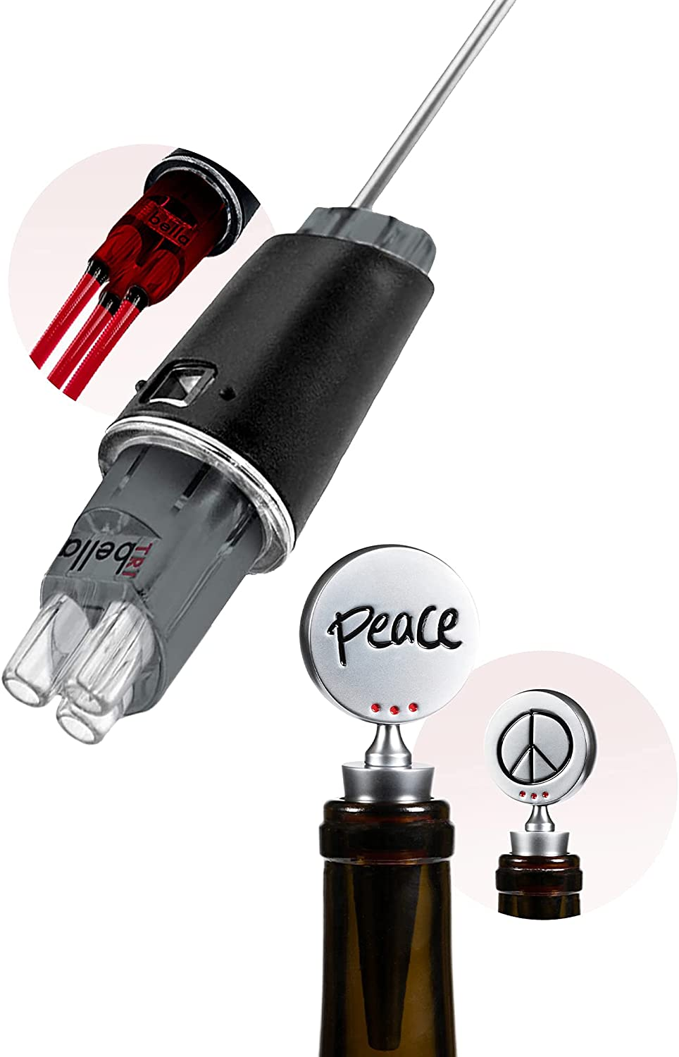 TRIBELLA - Air King Wine and Aerator Peace Max 85% OFF Topper 25% OFF Single-Inject