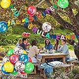 iZoeL Schuleinführung Schulanfang Einschulung Banner Deko Alles Gute Zum Schulanfang Filz Girlande + 15 Konfetti Luftballon für Junge Mädchen - 4