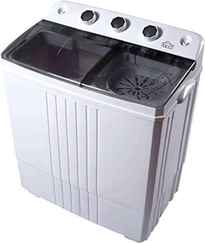 DCG ML5970 Mini machine à laver 4,5 kg avec essoreuse pour caravane, camping, bateau