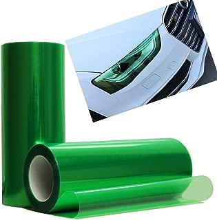 DIYAH 12 X 48 Inches Self Adhesive Headlight, Tail Lights, Fog Lights Tint Vinyl Film (Green)