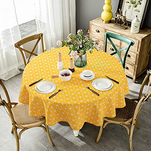NATUCE Round Tablecloth, 150cm D...