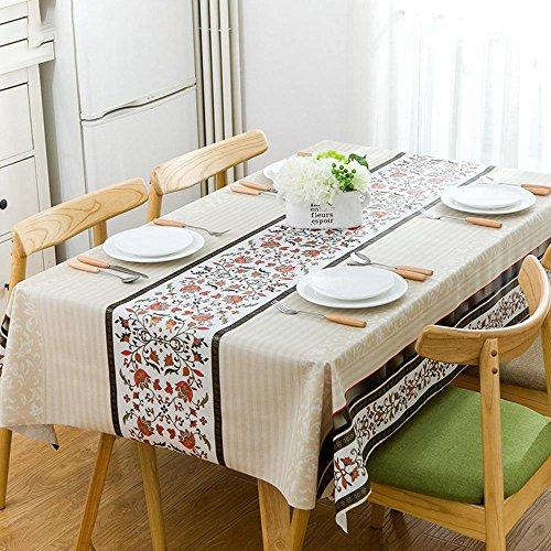 BiuTeFang Tafelkleed, pvc, waterdicht, Europees decoratief tafelkleed, olie, antifouling, huishouden, tafelkleden