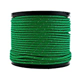 Soomloom テント用ロープ 反射材付き 張り綱 全長50m ロープ直径4㎜ (2mmグリーン50M)