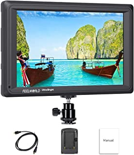 Feelworld FW279 7 Pulgadas Ultra Brillante On Cámara Field Monitor de Campo DSLR Camera Full HD Focus Video Assist 1920x1200 IPS con 4K HDMI Input Output 2200nit Alto Brillo