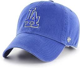 '47 Brand Los Angeles LA Dodgers Clean Up Hat Cap Royal Blue/White Outline