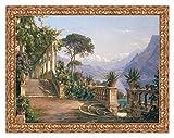 Quadro Stampa su Tela Carl Frederic Aagaard Lodge on Lake Como...