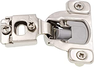 Face Frame Cabinet Hinges (40-Pack) Kitchen and Bathroom | Soft Close w/Built-in Damper | 3-Way Adjustability, 1/2 Inch Overlay | Stainless-Steel Metal Finish w/Screws