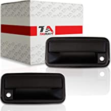 T1A Exterior Door Handle Pair Replacement for 1995-2000 Chevy Tahoe Fits Front Left and Right Sides, Also Fits GMC Pickup, Suburban, Yukon, Cadillac Escalade, Textured Black, GM-15742229 GM-15742230