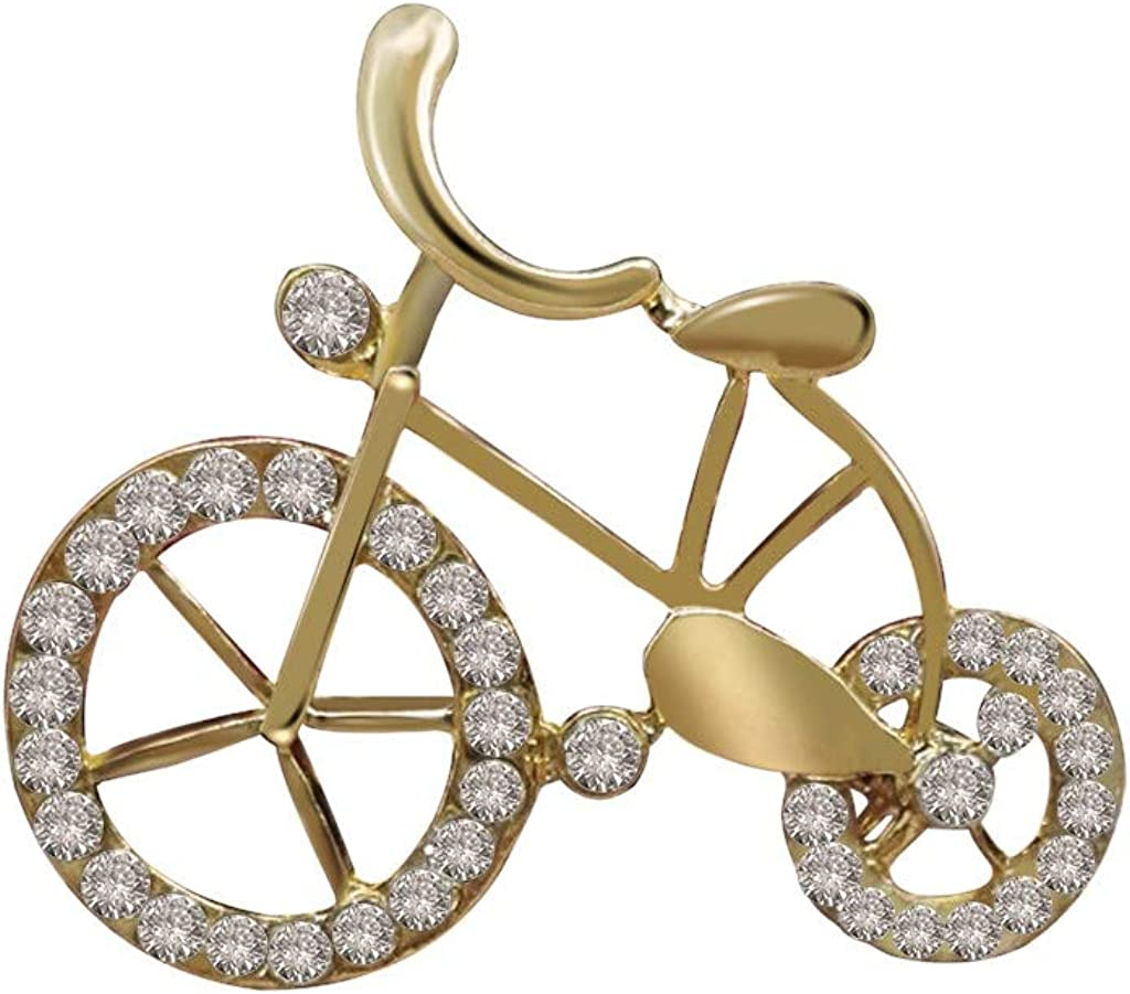YOYORI Creative Corsage Bicycle Shape Pin National uniform free shipping Dress Rhineston Brooch Cheap bargain