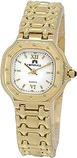CROMWELL - Reloj oro 18k Cromwell mujer brillo mate esfera blanca rectangular
