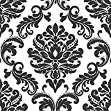 NuWallpaper NU1646 Ariel Wallpaper, Black